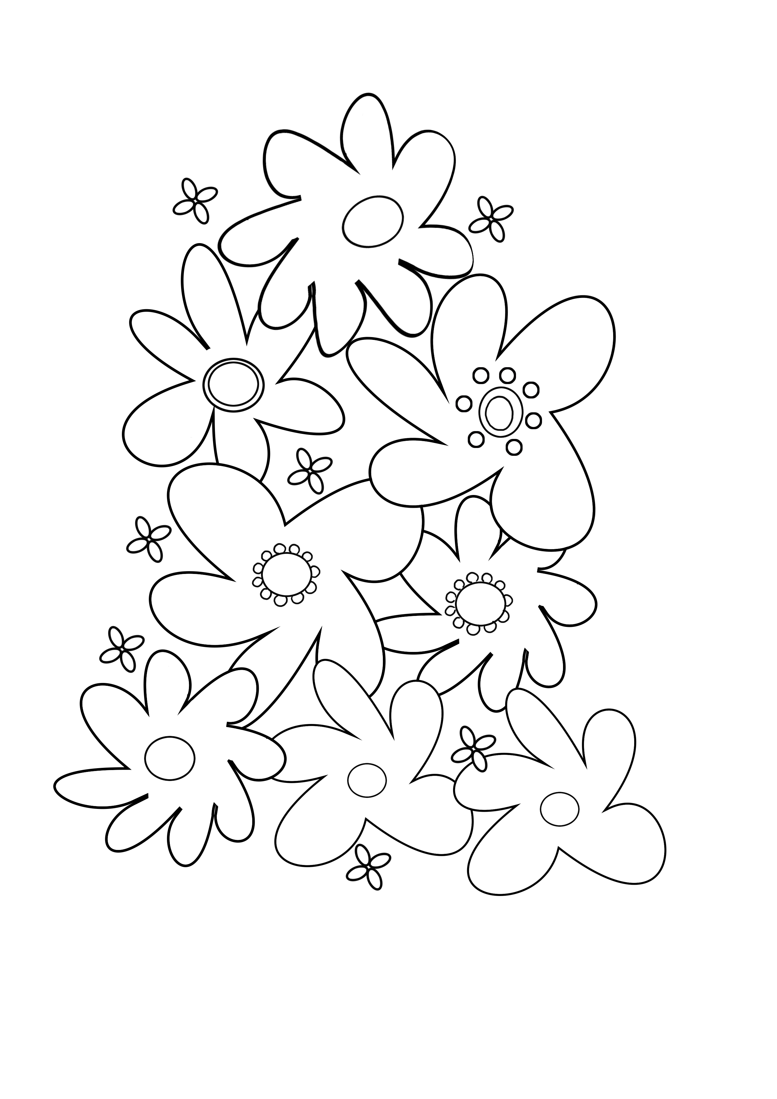 coloring page of a flower hibiscus flower coloring pages download and print of coloring flower page a