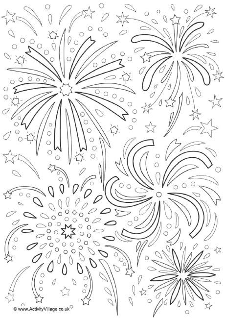 coloring page of fireworks firework coloring pages to download and print for free fireworks coloring of page