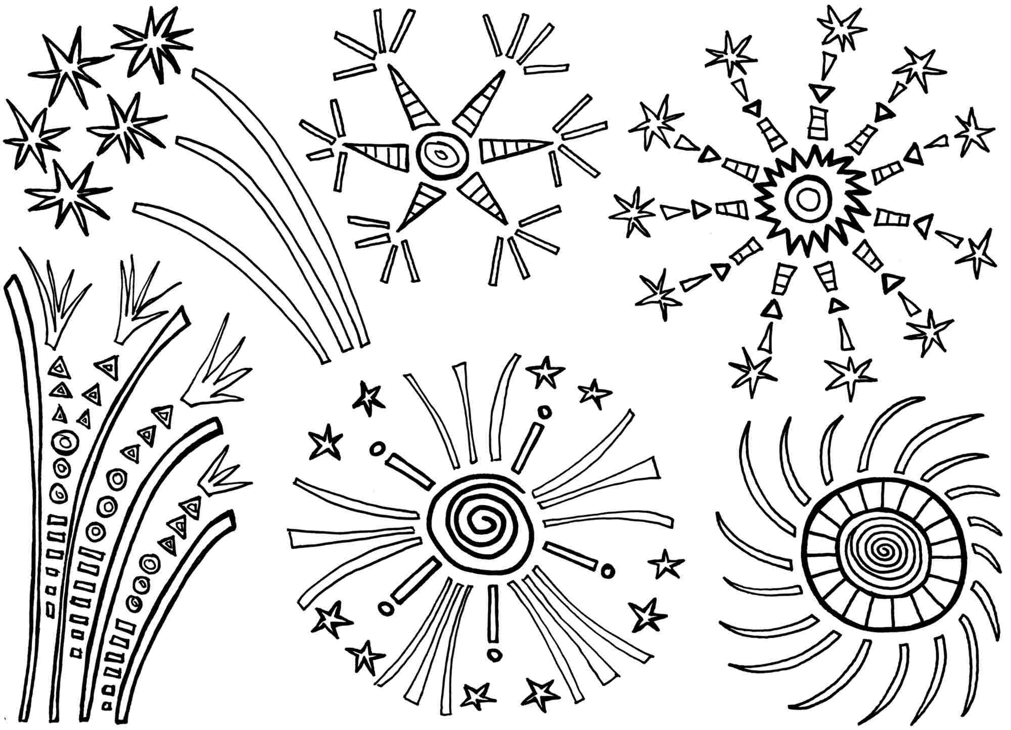 coloring page of fireworks fireworks coloring pages coloring pages for kids page fireworks coloring of