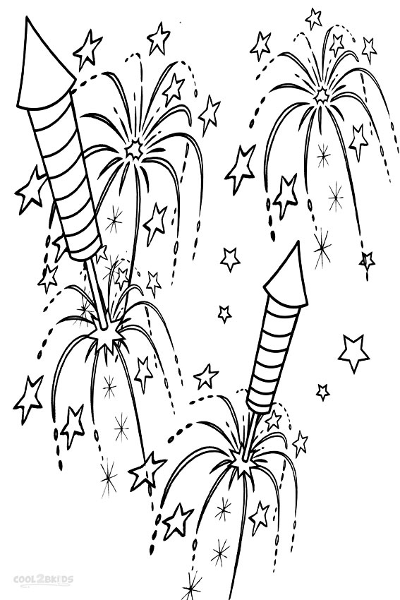 coloring page of fireworks printable fireworks coloring pages for kids cool2bkids coloring fireworks page of