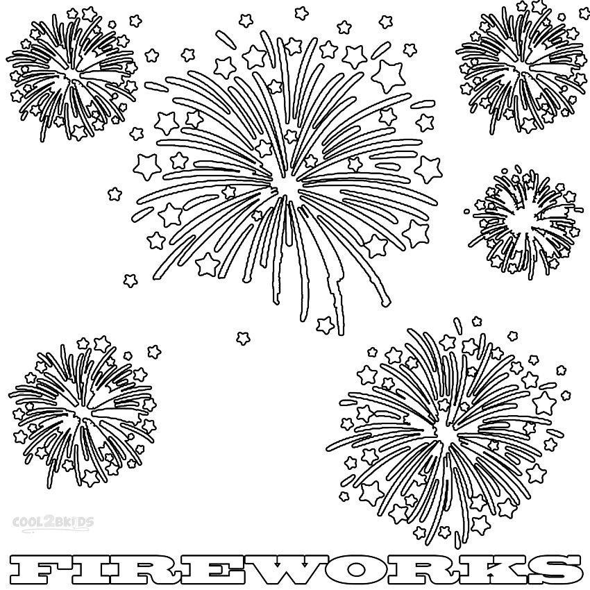 coloring page of fireworks printable fireworks coloring pages for kids cool2bkids page fireworks coloring of