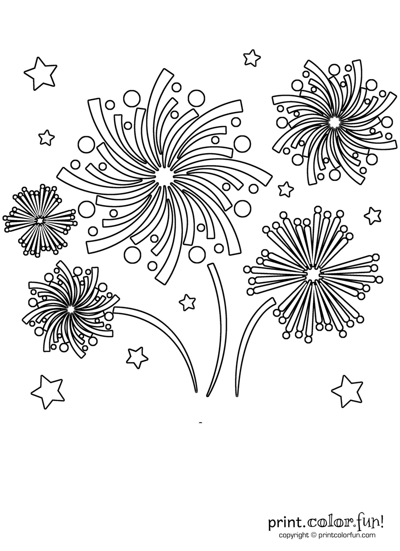 coloring page of fireworks printable fireworks coloring pages for kids cool2bkids page of fireworks coloring