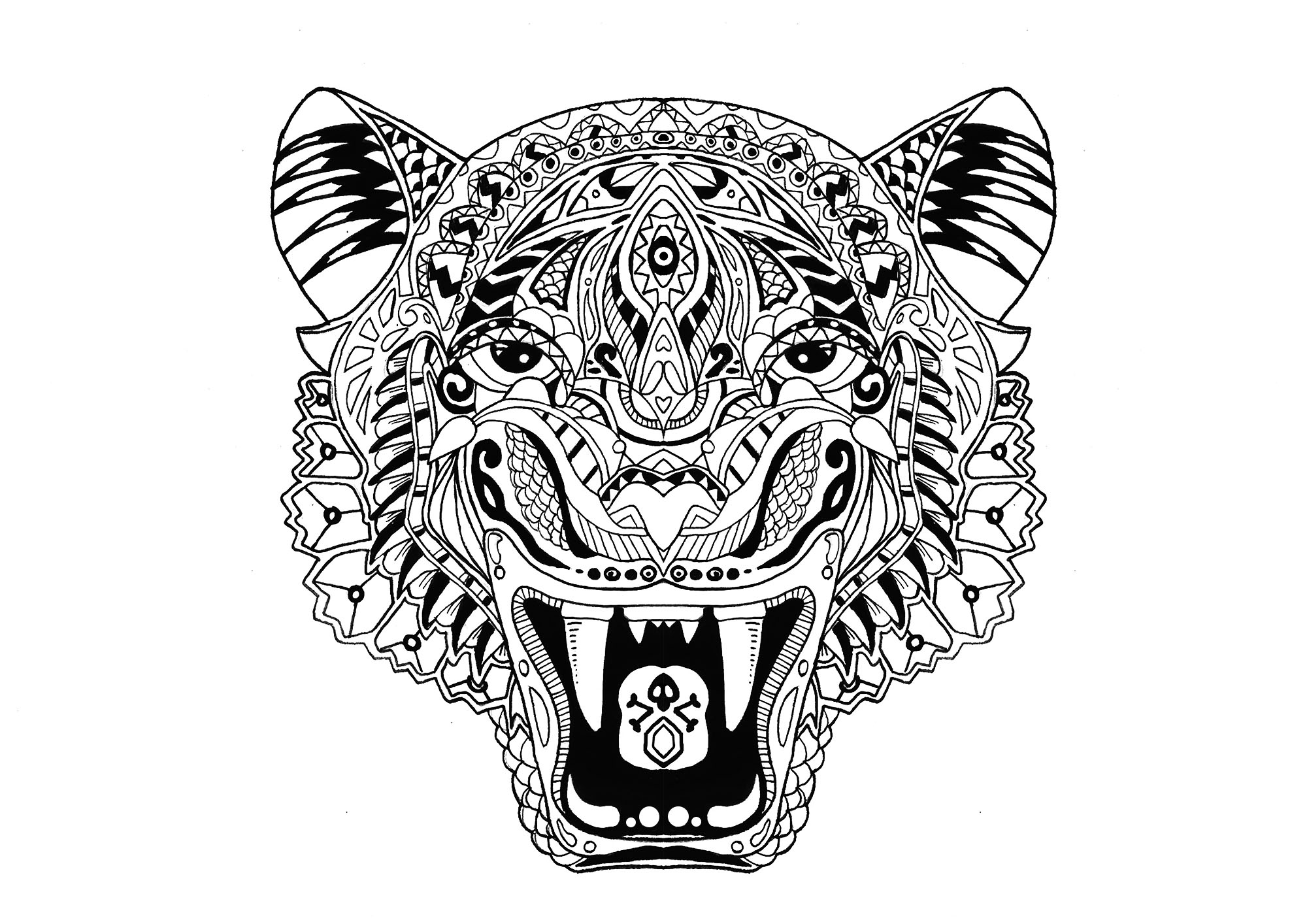 coloring page of tiger free tiger coloring pages coloring page of tiger 1 1