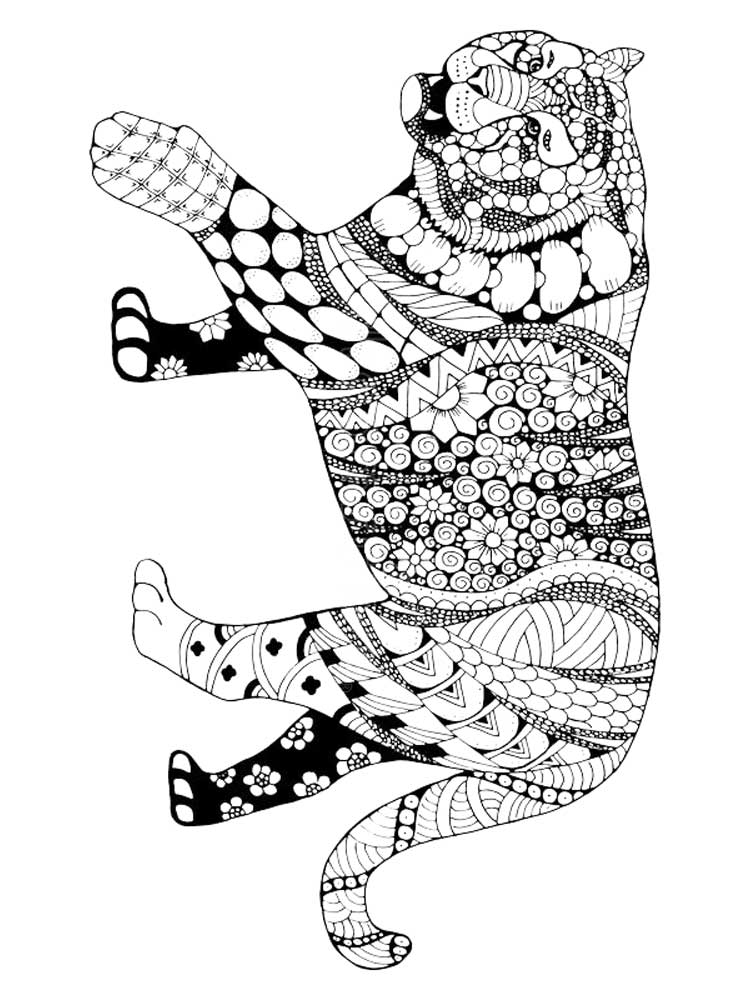 coloring page of tiger free tiger coloring pages page coloring tiger of