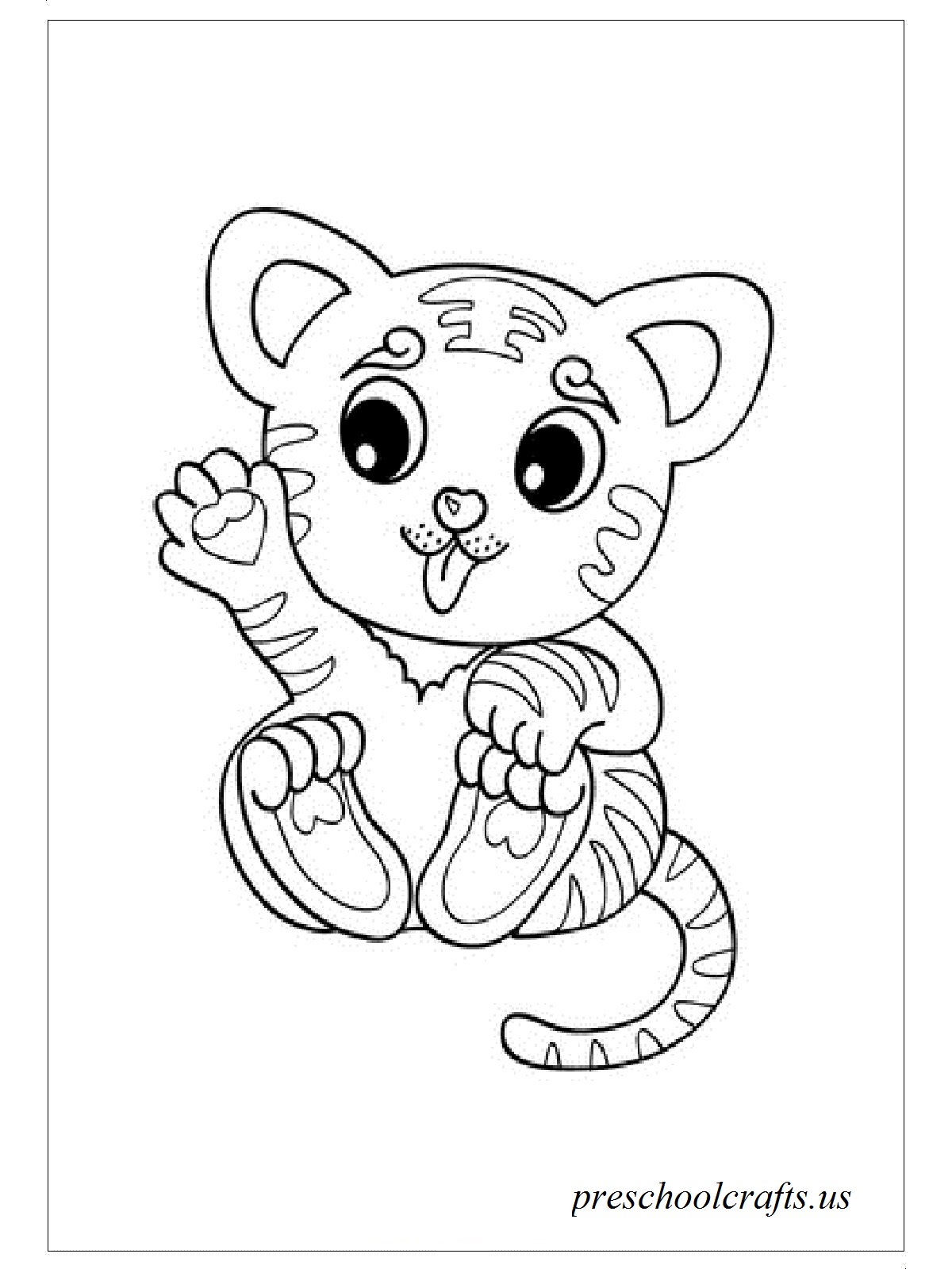 coloring page of tiger tigers free to color for children tigers kids coloring pages of tiger page coloring