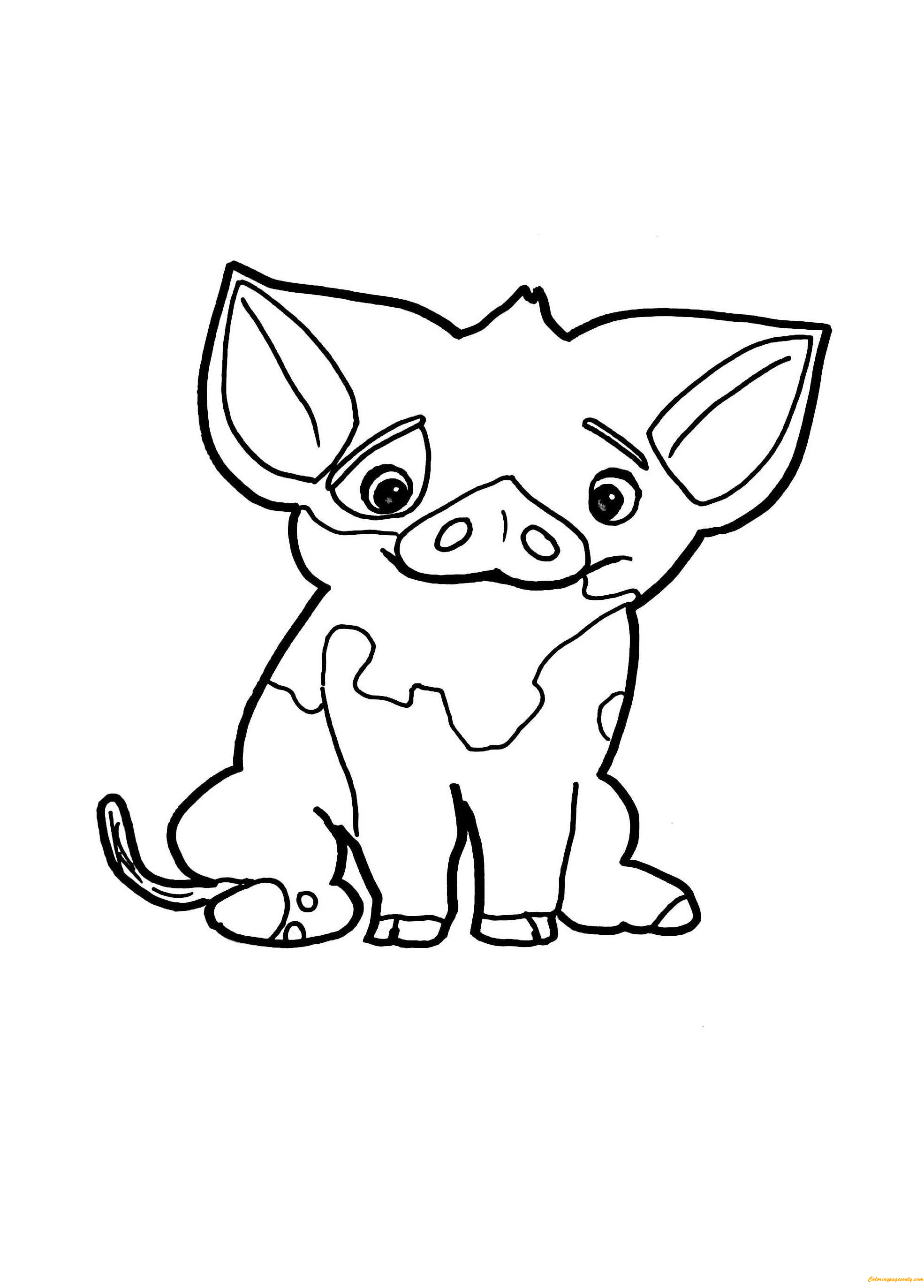 coloring page pig pua pig from moana 5 coloring pages cartoons coloring pig page coloring