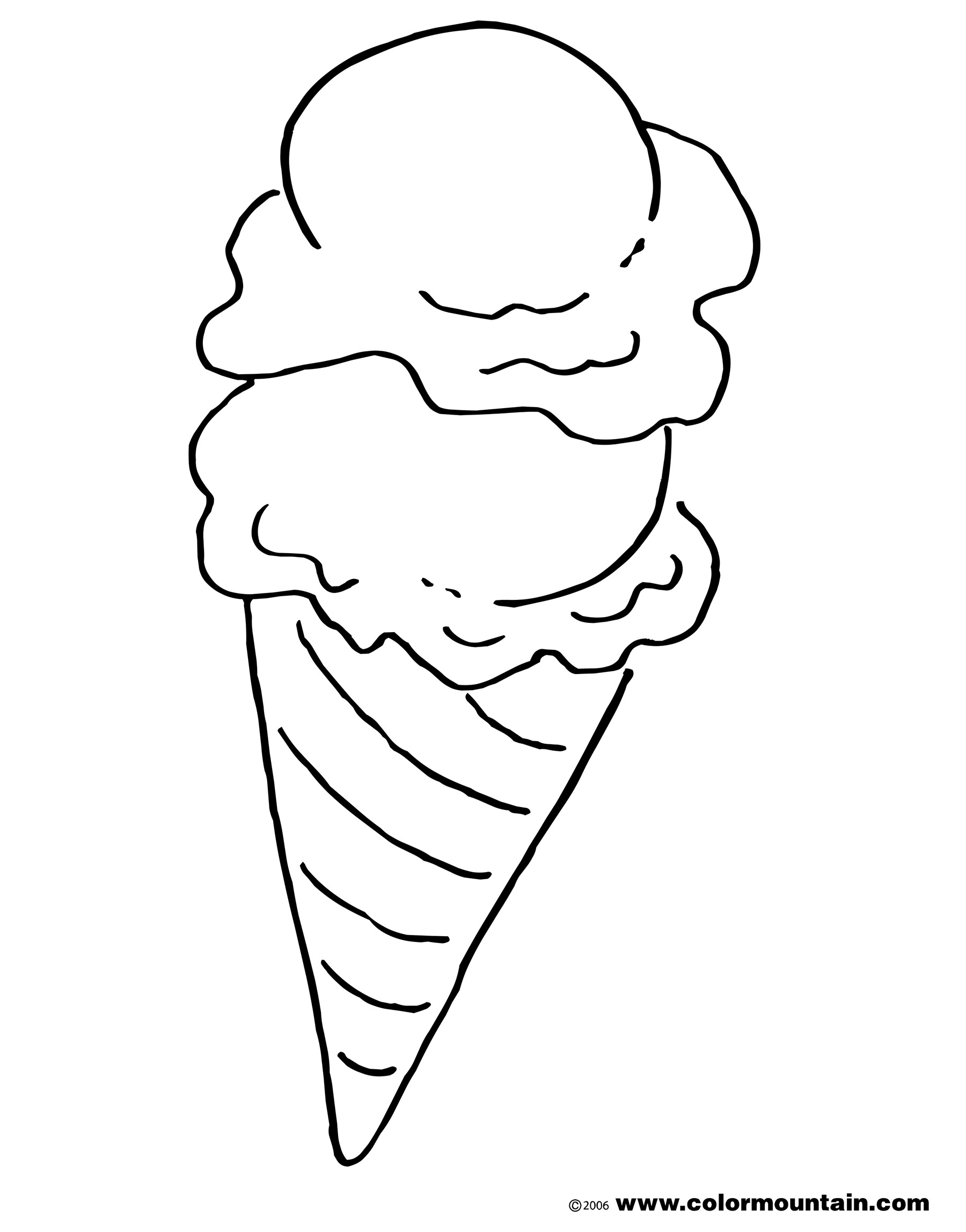 coloring page printable ice cream ice cream cone drawing at getdrawings free download printable coloring ice page cream