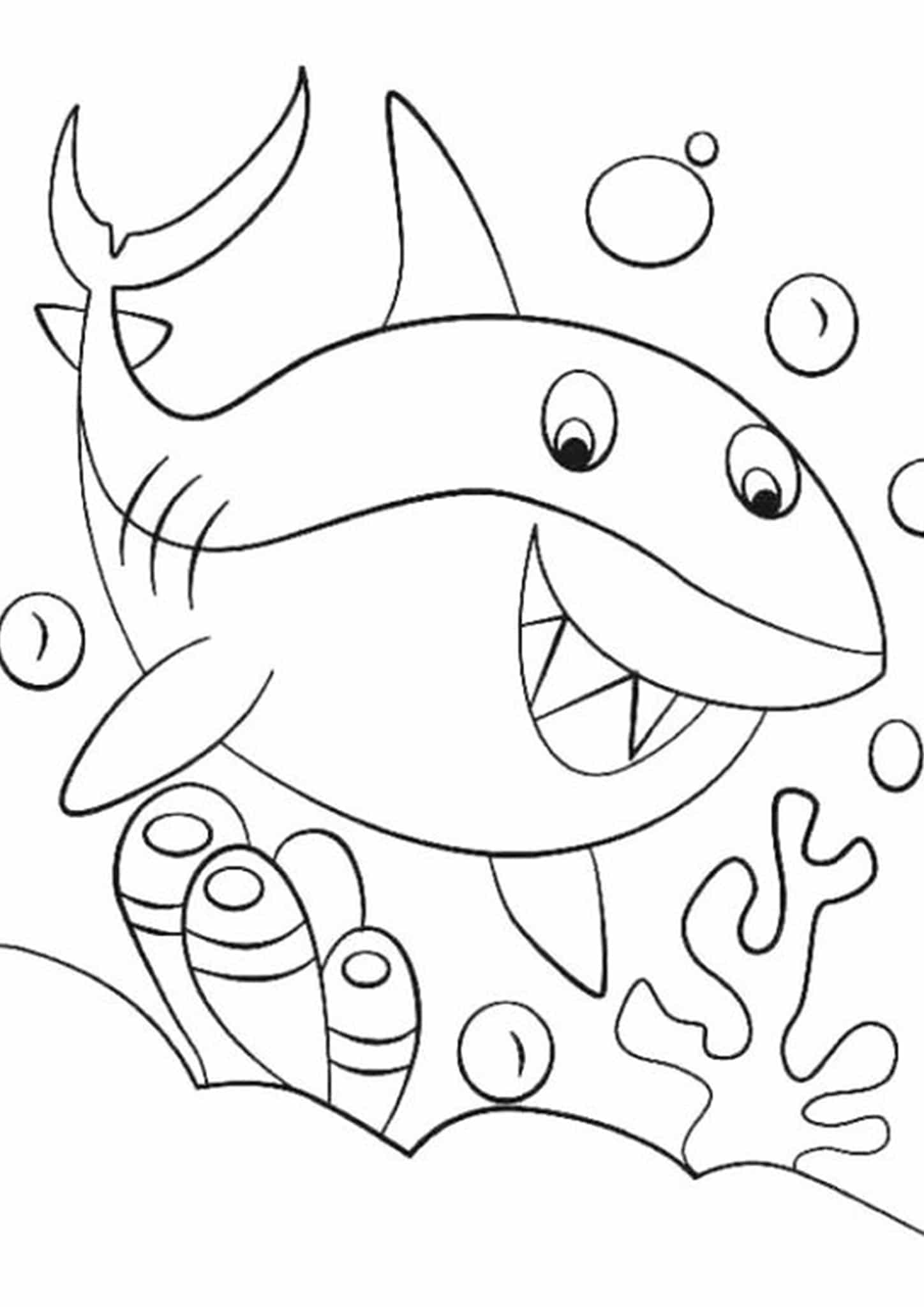 coloring page shark big angry sharks coloring pages for kids etk printable coloring shark page