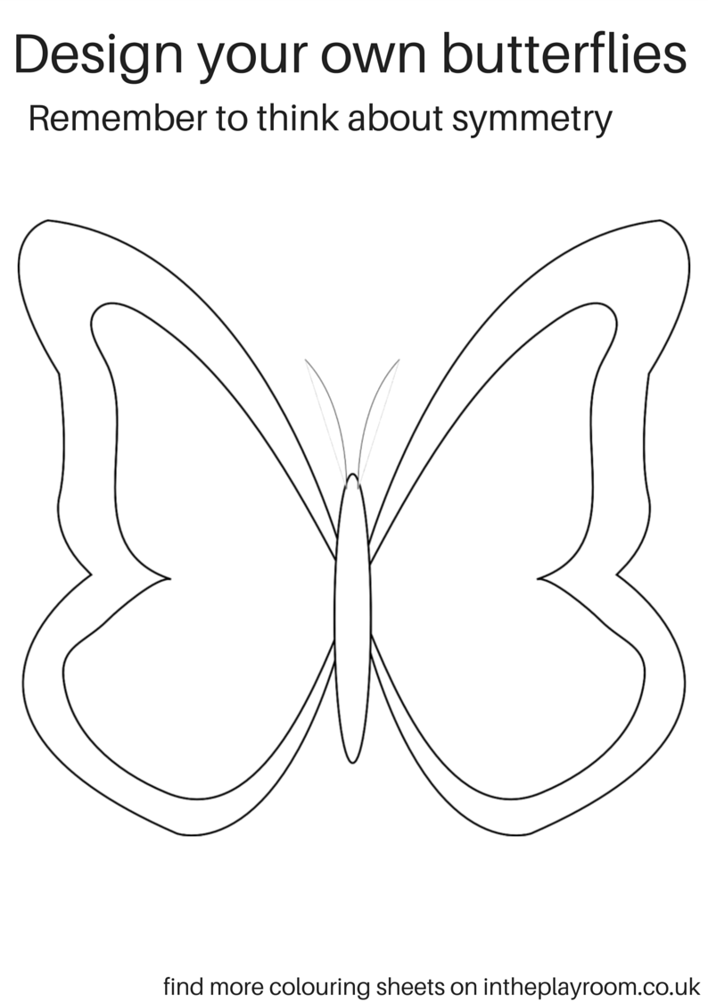 coloring page template printing free printable butterfly colouring pages in the playroom page coloring template printing