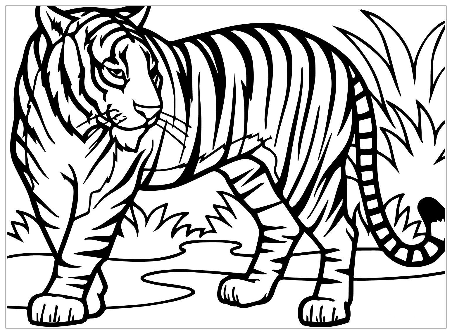 coloring page tiger free tiger coloring pages for adults printable to coloring tiger page