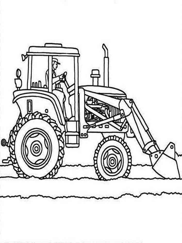 coloring page tractor art of the tractor coloring book octane press page coloring tractor