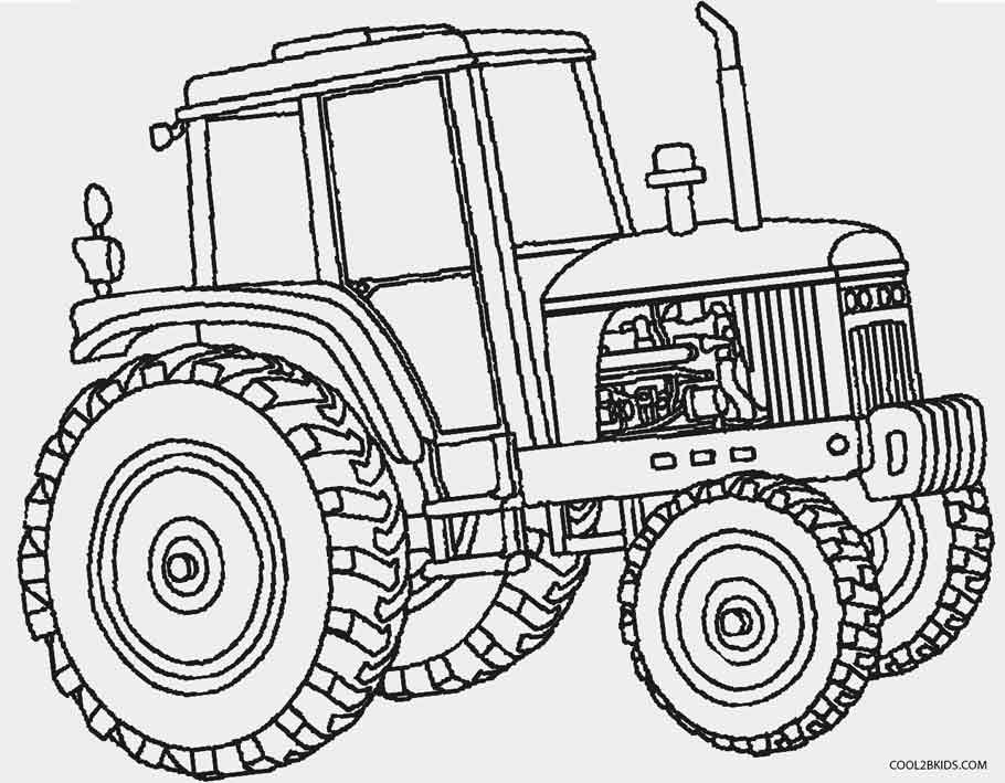 coloring page tractor funny tractor coloring page for kids transportation coloring page tractor