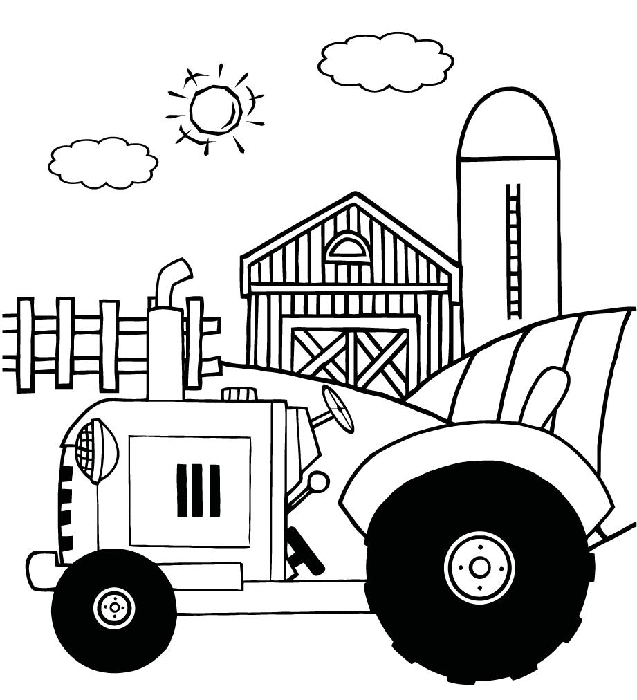 coloring page tractor kids tractor a coloring pages coloring pages for kids tractor coloring page