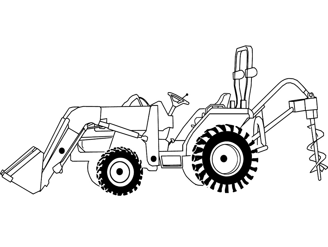 coloring page tractor tractor character coloring page tractor character tractor coloring page