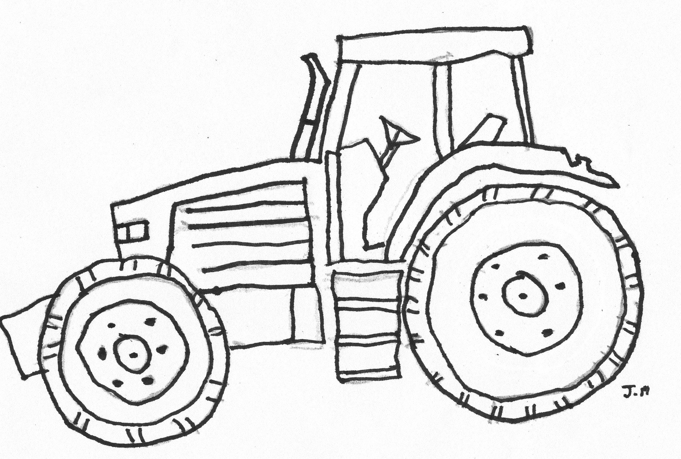 coloring page tractor tractor coloring pages at getdrawings free download tractor coloring page