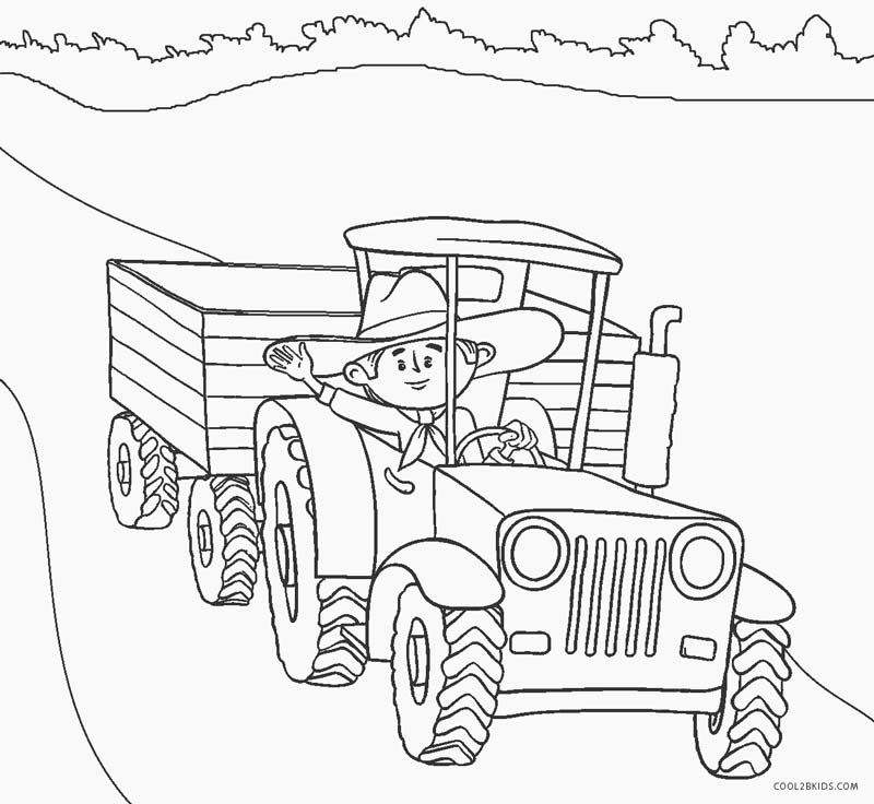coloring page tractor tractor coloring pages download and print tractor page coloring tractor