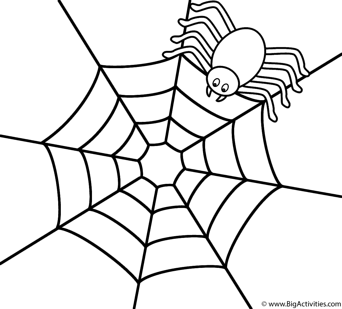 coloring page websites spider on the top of web coloring page halloween page websites coloring