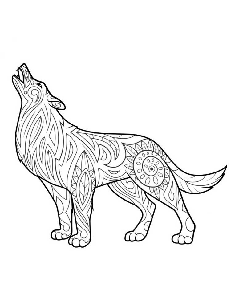 coloring page wolf free wolf coloring pages wolf coloring page 1 2