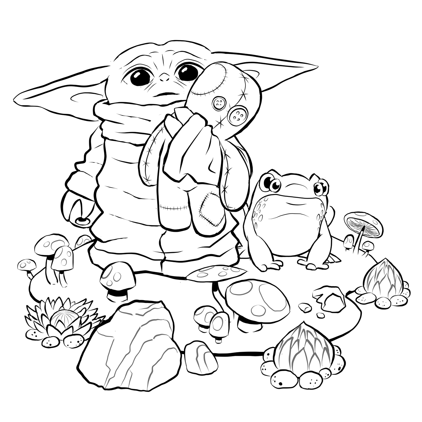coloring page yoda i created a coloring page for bebe yoda the child enjoy page coloring yoda