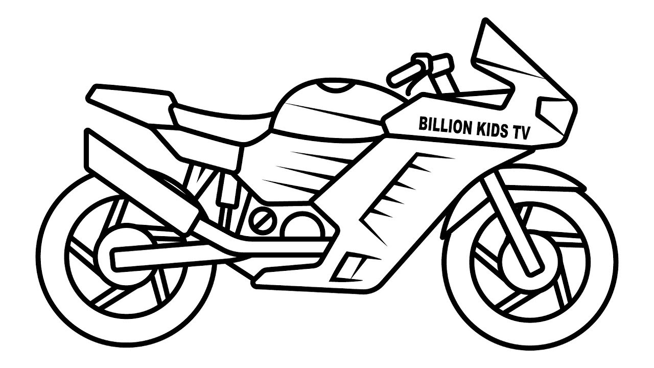 coloring pages bikes bike coloring pages at getdrawings free download pages bikes coloring