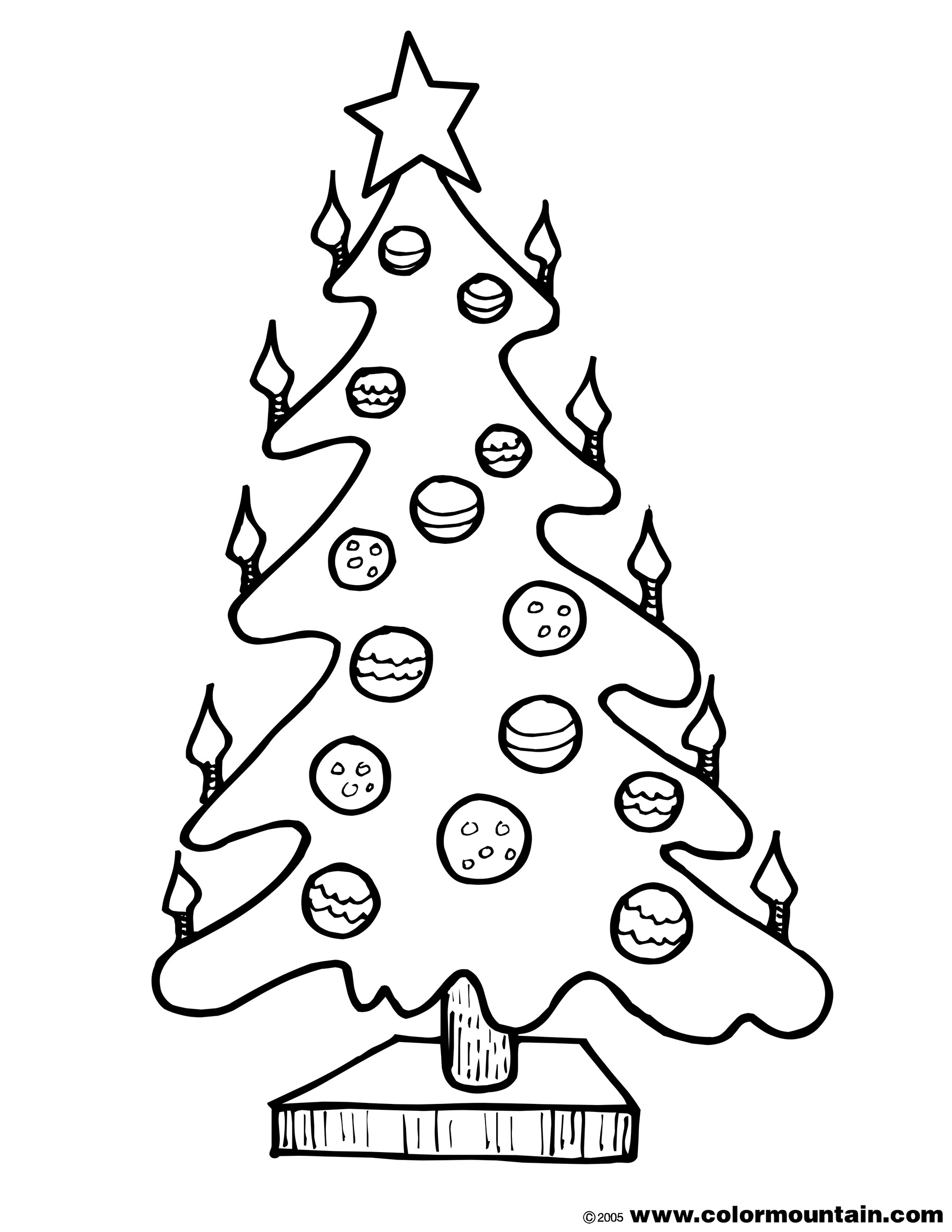 coloring pages christmas tree lights christmas tree with lights template coloring page pages coloring tree lights christmas