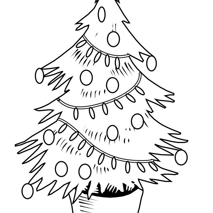 coloring pages christmas tree lights decorated christmas tree clipart panda free clipart images christmas lights pages tree coloring