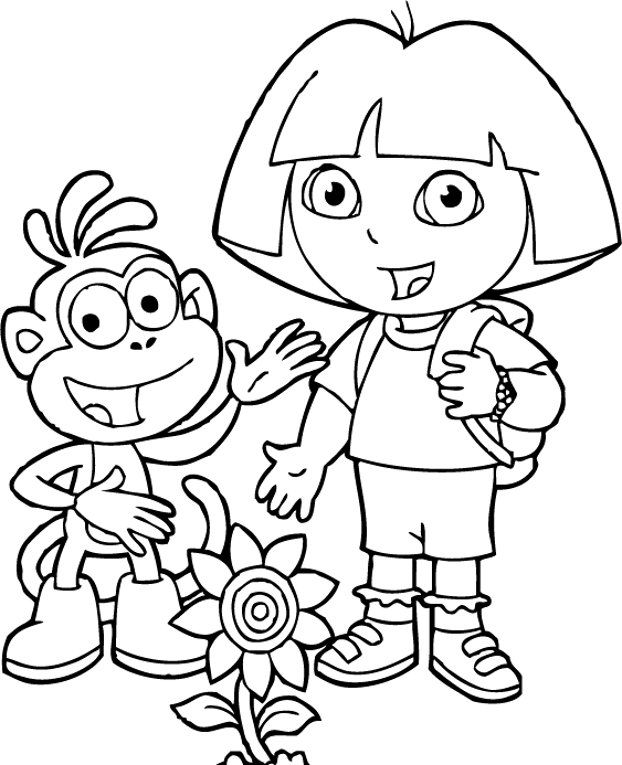 coloring pages dora and friends dora and child coloring page boy wecoloringpagecom friends pages dora and coloring