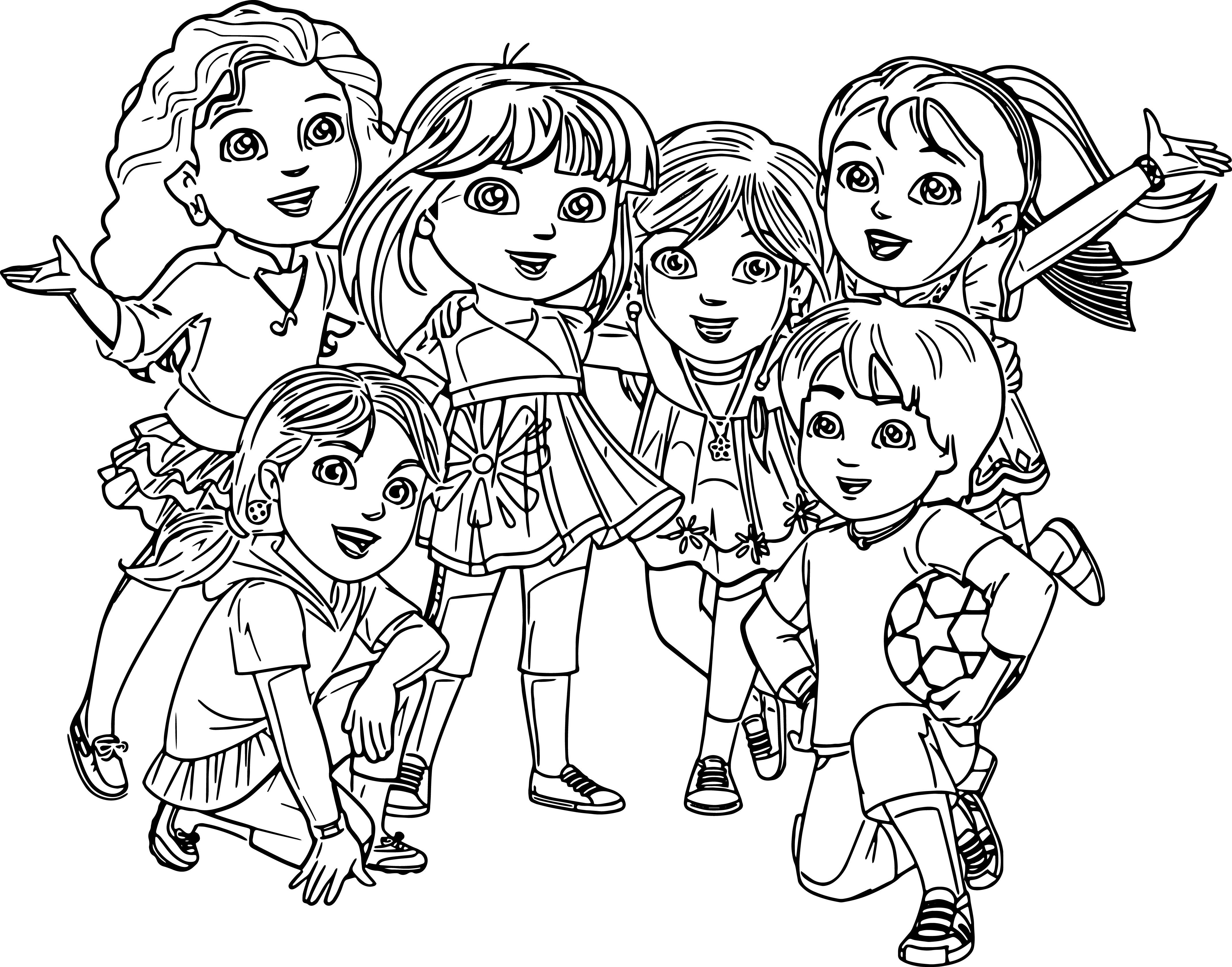 coloring pages dora and friends dora and friends coloring pages coloring home dora and pages coloring friends