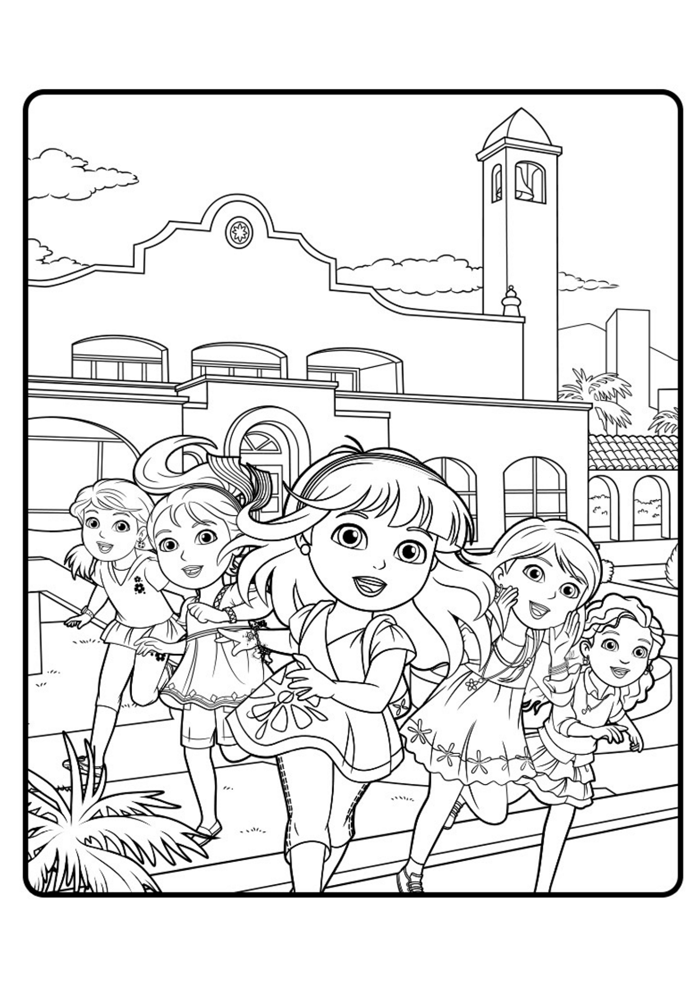 coloring pages dora and friends dora and friends coloring pages to download and print for free and coloring dora pages friends