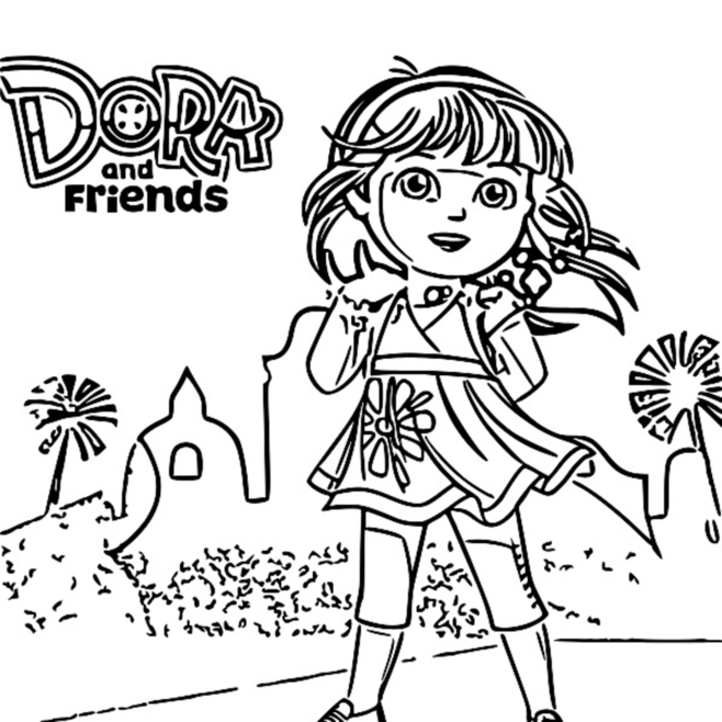 coloring pages dora and friends dora and friends coloring pages to download and print for free friends coloring pages and dora