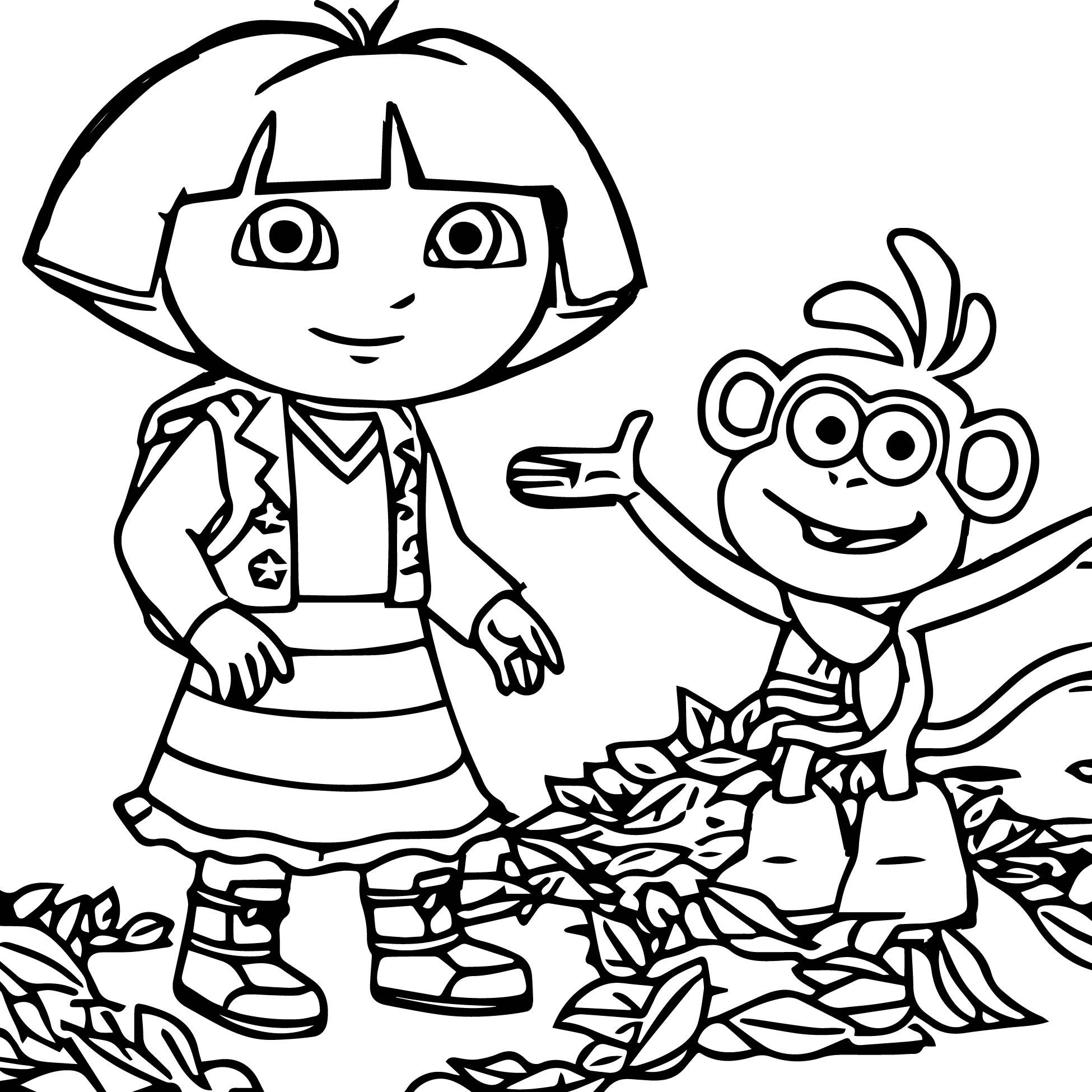 coloring pages dora and friends dora and friends drawing at getdrawings free download and coloring dora pages friends