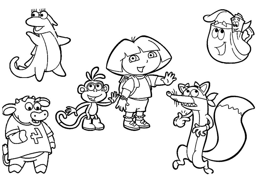 coloring pages dora and friends loudlyeccentric 31 dora and friends coloring pages pages friends and dora coloring