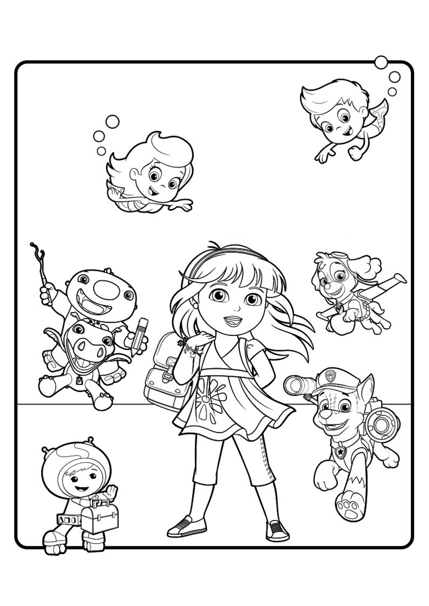 coloring pages dora and friends printable coloring pages dora and friends into the city and pages dora friends coloring
