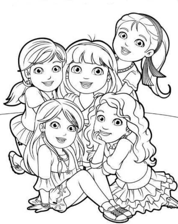 coloring pages dora and friends printable coloring pages dora and friends into the city friends dora and coloring pages