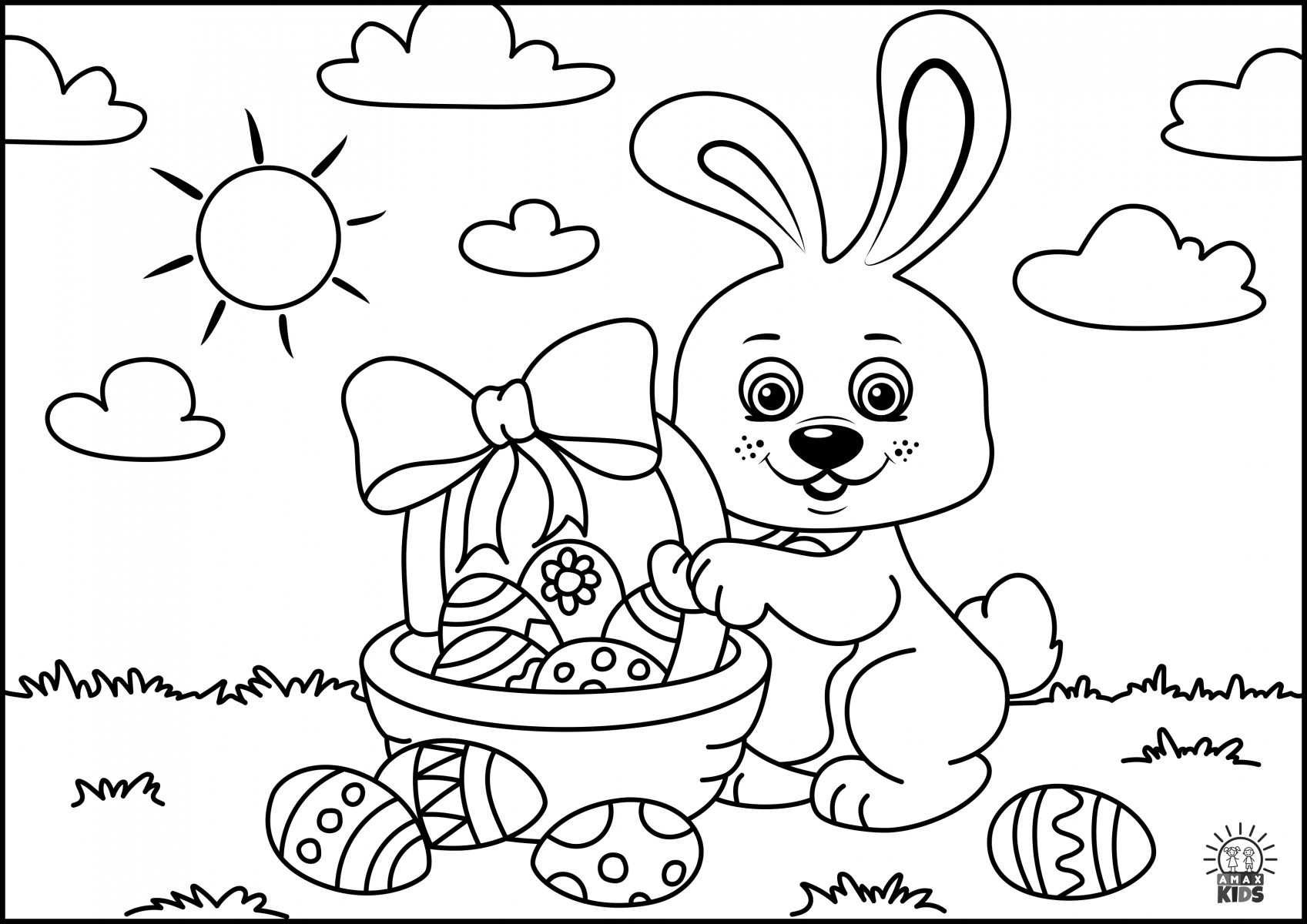 coloring pages easter easter coloring pages for kids amax kids easter coloring pages
