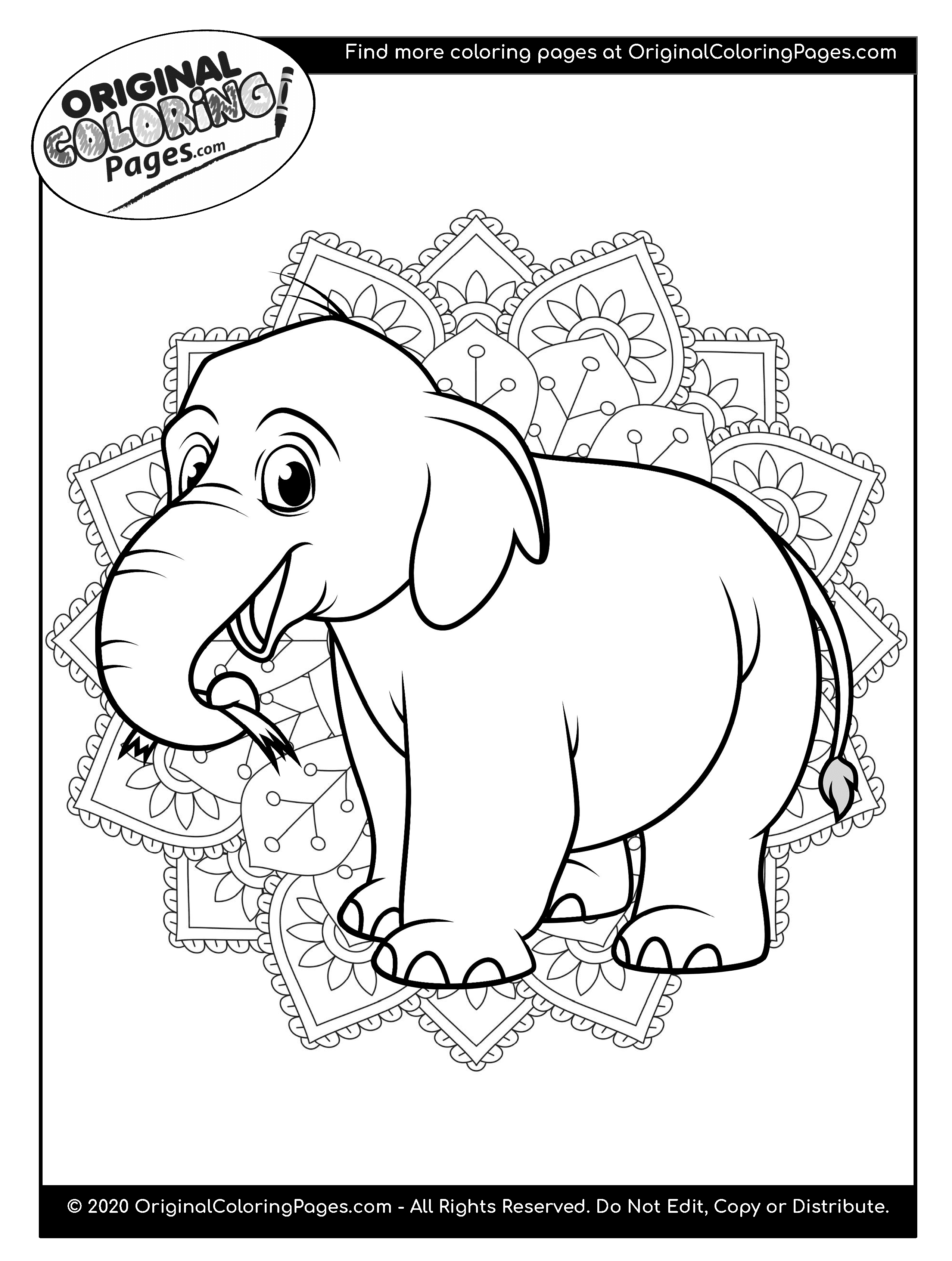 coloring pages elephants elephant coloring pages coloring pages original elephants coloring pages