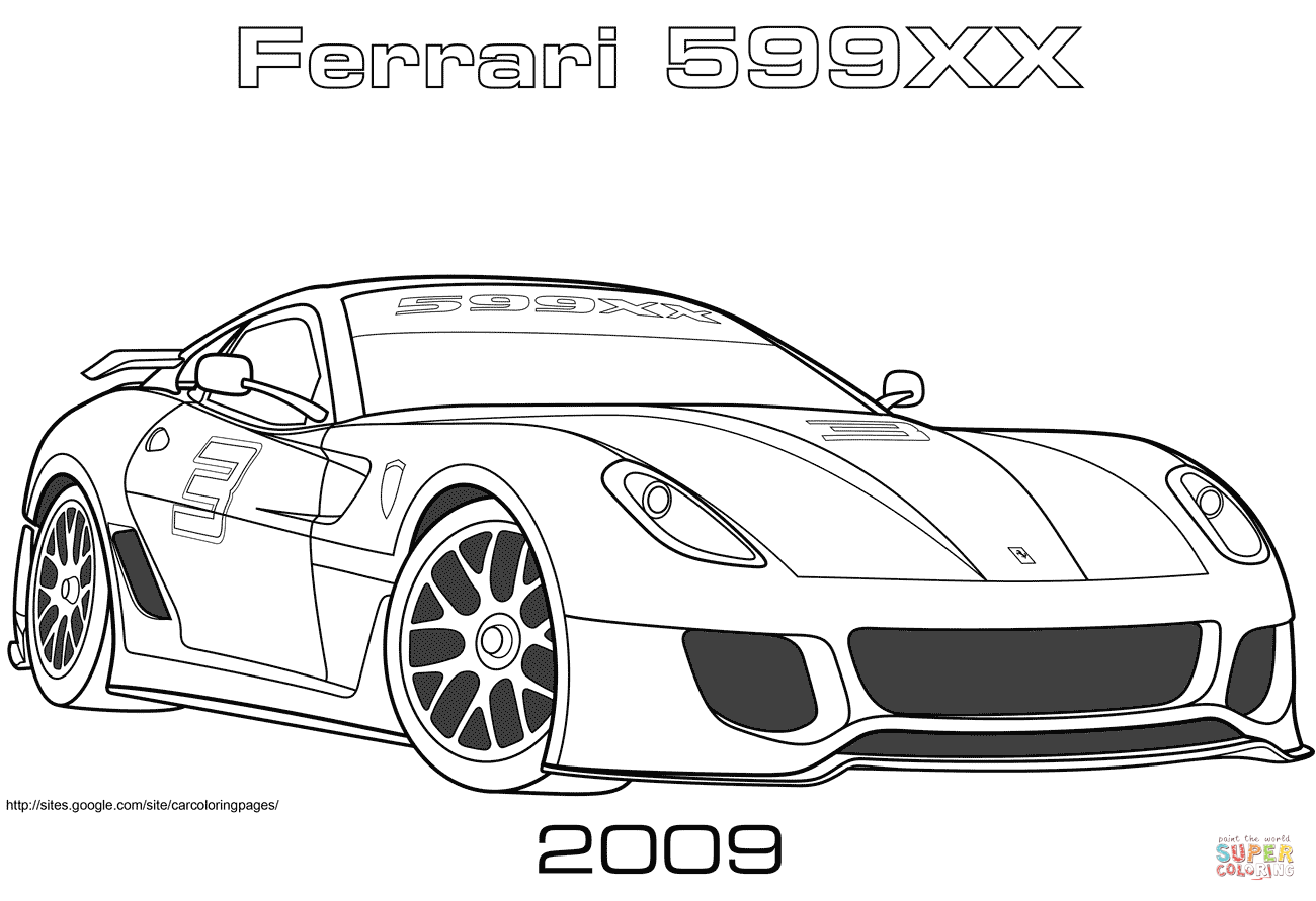 coloring pages ferrari cars ferrari 599 sports cars coloring pages kids play color cars coloring ferrari pages