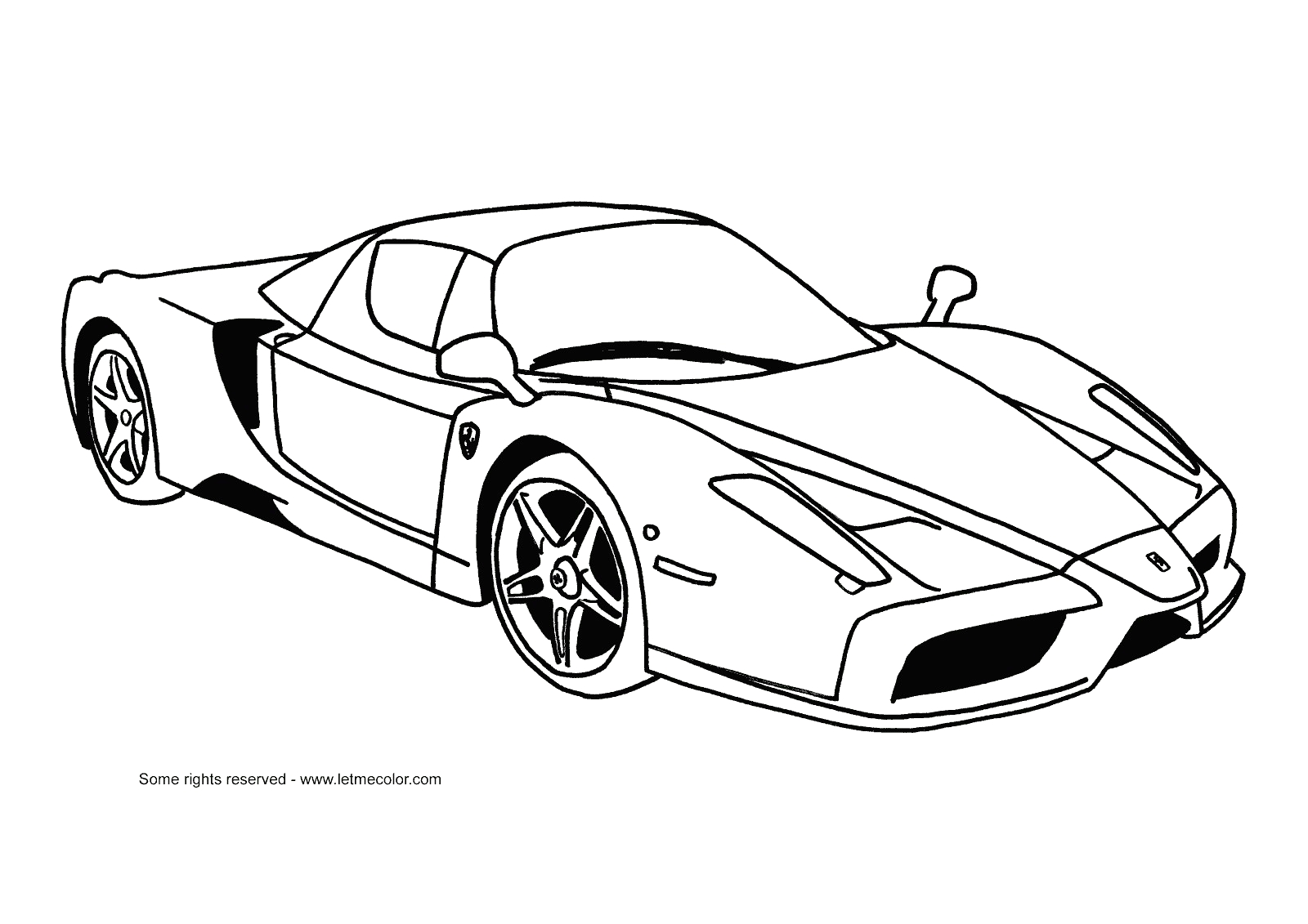 coloring pages ferrari cars ferrari car coloring pages at getdrawings free download ferrari coloring cars pages
