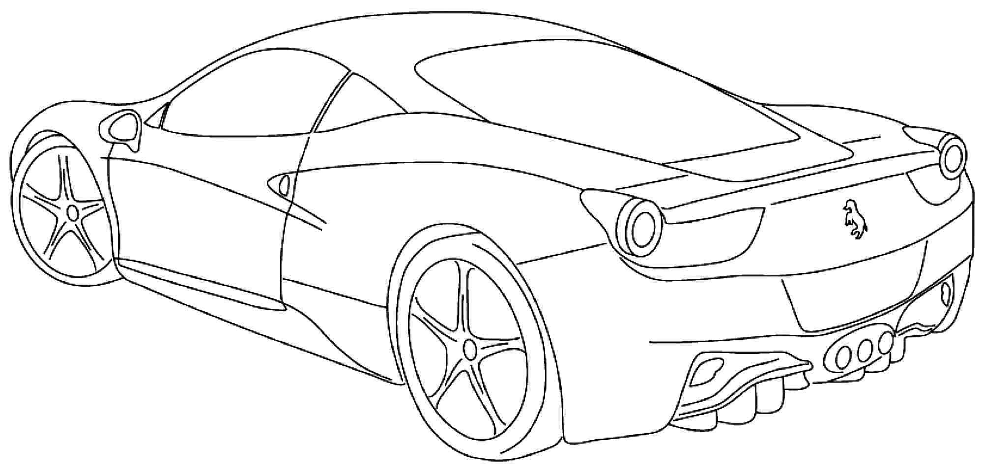 coloring pages ferrari cars ferrari sport car high speed coloring page ferrari car ferrari pages coloring cars
