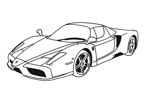 coloring pages ferrari cars the best free ferrari coloring page images download from cars pages coloring ferrari