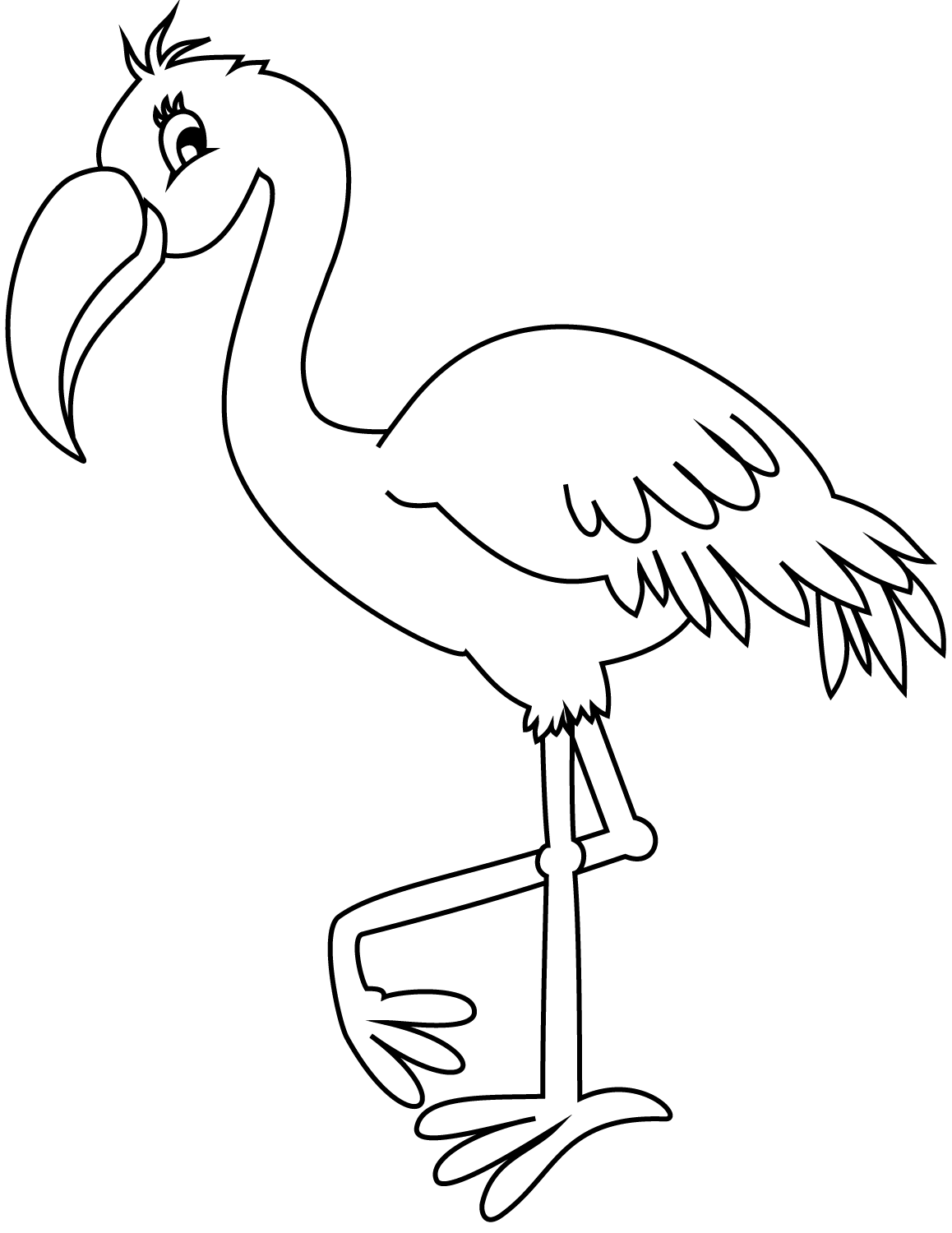 coloring pages flamingo pink flamingo coloring page at getdrawings free download flamingo coloring pages
