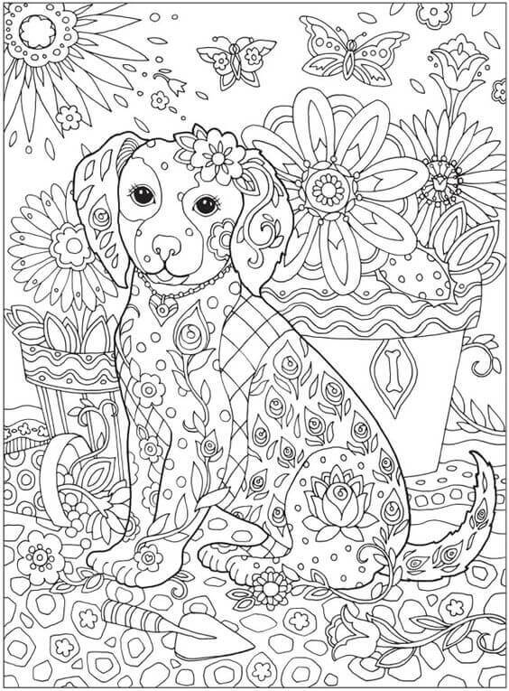 coloring pages for adults dogs french bulldog and its harmonious patterns dogs adult for adults coloring pages dogs