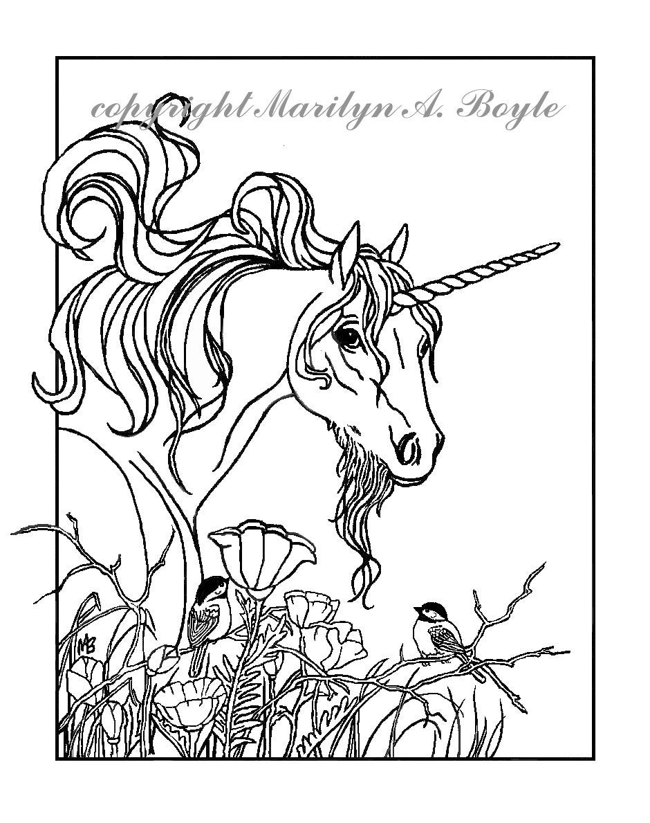 coloring pages for adults unicorn adult coloring page fantasy unicorn chickadees flowers unicorn adults coloring pages for