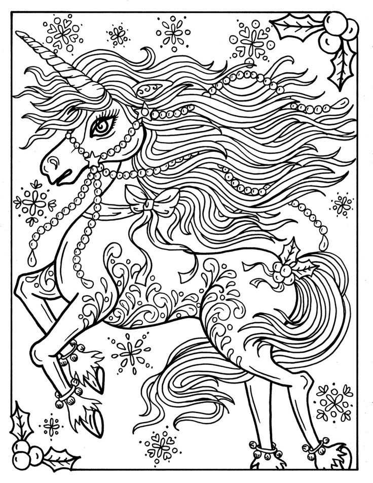 coloring pages for adults unicorn christmas unicorn adult coloring page coloring book for adults unicorn coloring pages