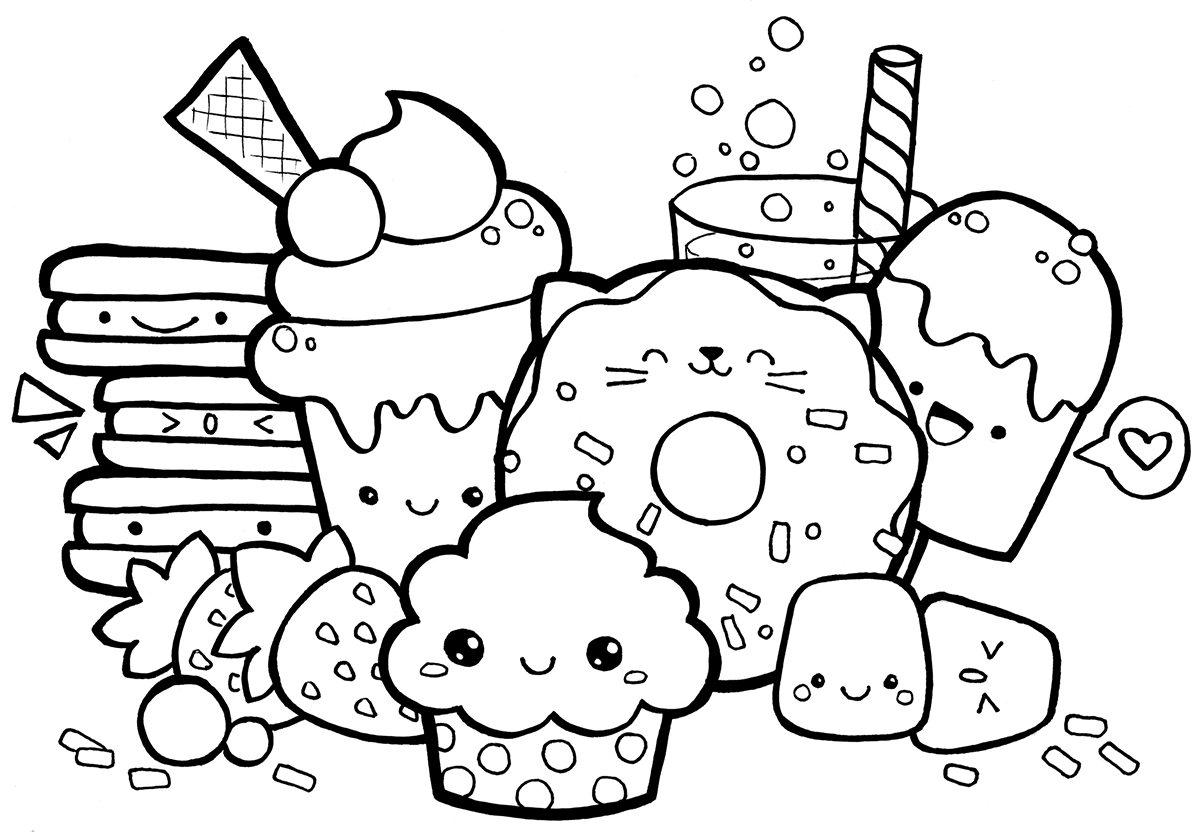 coloring pages for kids kawaii kawaii coloring pages to download and print for free pages kids coloring for kawaii