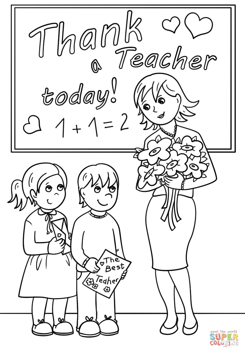 coloring pages for teachers appreciation thank a teacher today coloring page free printable coloring pages appreciation teachers for