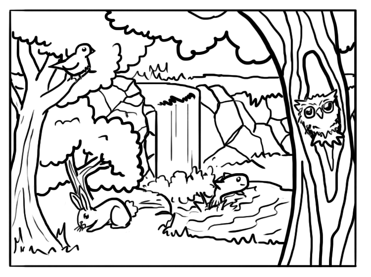 coloring pages forest does and fawns in forest deers adult coloring pages forest coloring pages