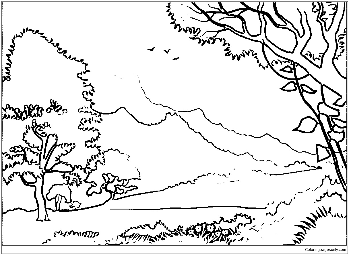 coloring pages forest forest coloring pages printable coloring home forest pages coloring 1 1