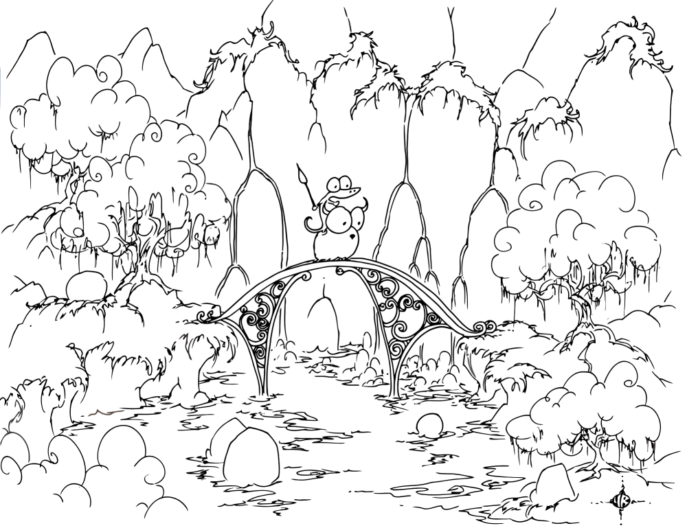 coloring pages forest forest drawing for kids at getdrawings free download pages forest coloring
