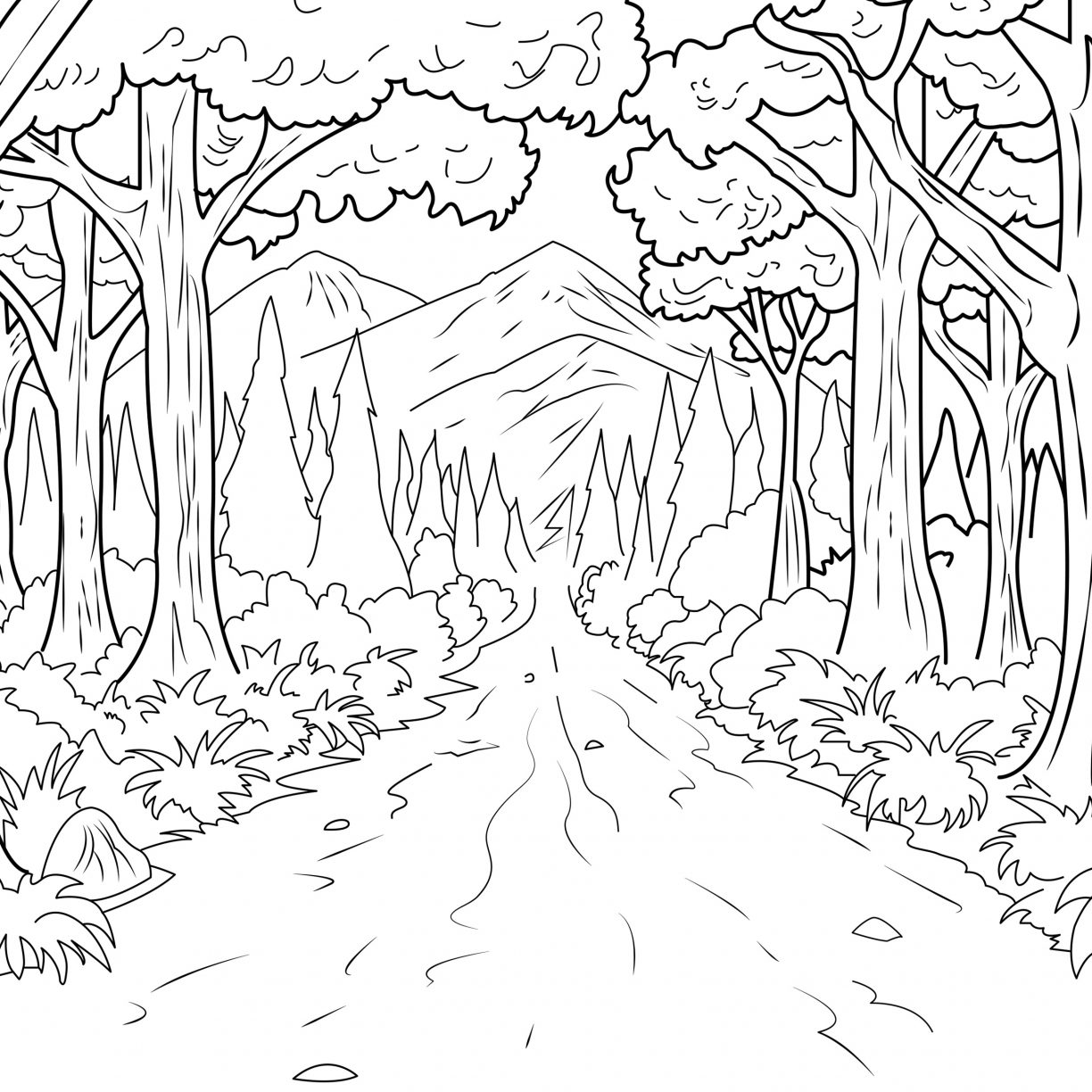 coloring pages forest jungle forest coloring pages for adults coloring coloring pages forest